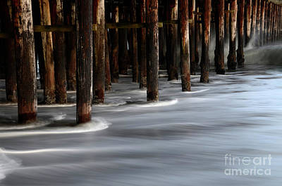 Santa Cruz Pier Photograph - Pier Pilings Santa Cruz California 2 by Bob Christopher