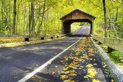 Pierce Stocking Scenic Drive In Fall Print by Twenty Two North Photography