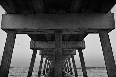 Abstract Beach Landscape Digital Art - Pierhenge Il by Laura Fasulo