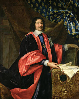 Pierre Seguier 1588-1672 Chancellor Of France, C.1668 Oil On Canvas Print by Henri Testelin