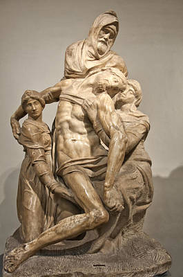 Pieta By Michelangelo Print by Melany Sarafis