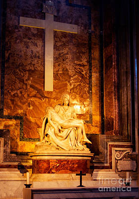 Pieta By Michelangelo Print by Phill Petrovic