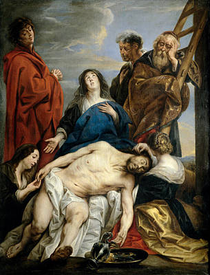 Jacob Jordaens Painting - Pieta by Jacob Jordaens