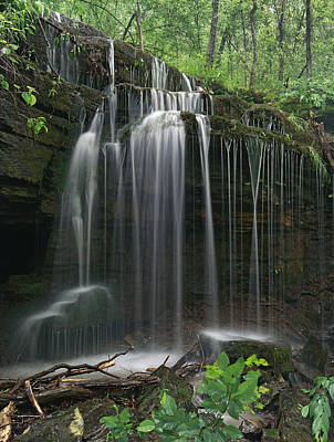 Photograph - Pig Trail Falls Mulberry River Arkansas by Tim Fitzharris