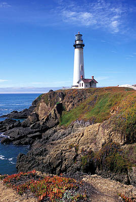 Pigeon Point Lighthouse Print by Kathy Yates