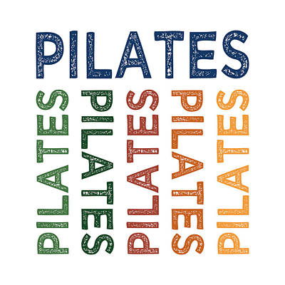 Pilates Cute Colorful Print by Flo Karp