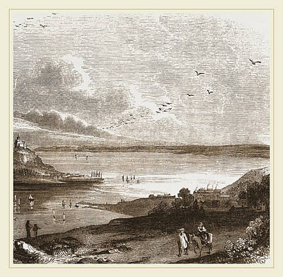 Pilchard Fishing In Mounts Bay Cornwall Print by Litz Collection