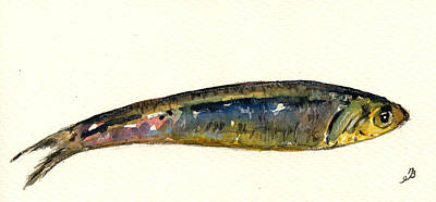 Fishes Painting - Pilchard by Juan  Bosco