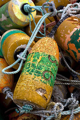 Buoys Photograph - Pile Of Colorful Buoys by Carol Leigh