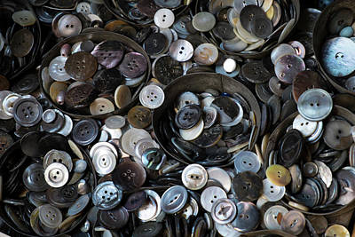 More Nyc Photograph - Pile Of Old Buttons, New York City, New by Julien Mcroberts