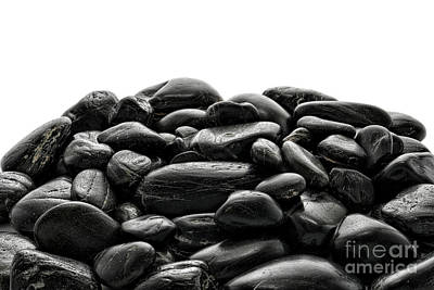 Pile Of Stones Print by Olivier Le Queinec
