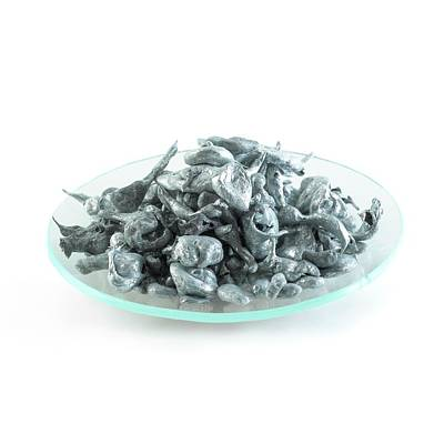 Sacrificial Photograph - Pile Of Zinc Granules by Science Photo Library