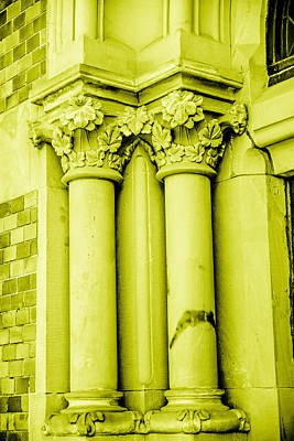 Pillar In Yellow Tone Print by Toppart Sweden
