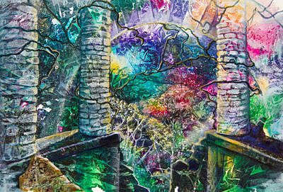 Pillars At The Edge Of The World Print by Patricia Allingham Carlson