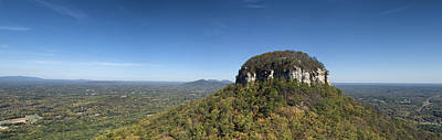 Pilot Mountain In Fall Pano 1 Original by Patrick M Lynch