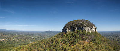 Pilot Mountain In Fall Pano 2 Original by Patrick M Lynch