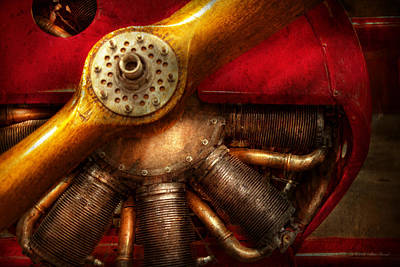 Airplane Engine Photograph - Pilot - Prop - The Barnstormer by Mike Savad