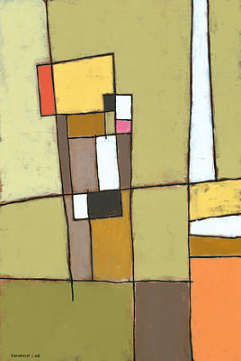 Abstract Shapes Painting - Pimento by Douglas Simonson