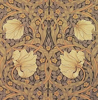 Pimpernel Wallpaper Design Print by William Morris