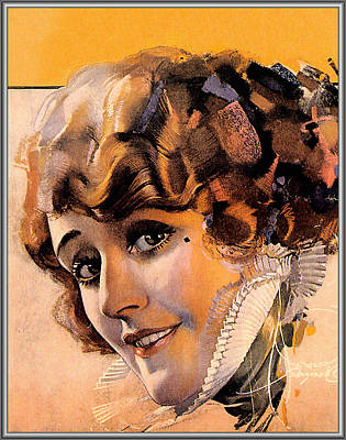 Blondies Digital Art - Pin Up With Blond Curly Hair by Rolf Armstrong