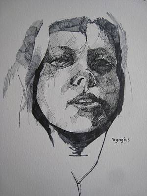 Sadness Painting - Pina by Ray Agius