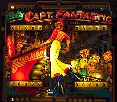 Elton John Photograph - Pinball Machine Capt. Fantastic by Terry DeLuco