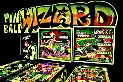 Vintage Video Game Photograph - Pinball Wizard by Benjamin Yeager