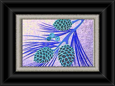 Pine Cones Print by Valerie Bruno