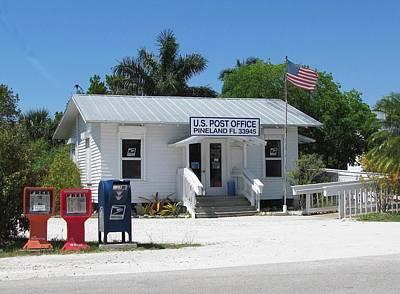 Pine Island Post Office Print by Melinda Saminski