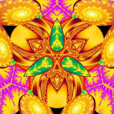 Sacred Geometry Digital Art - Pineal Flux by Derek Gedney