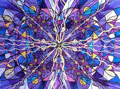 Geometric Painting - Pineal Opening by Teal Eye  Print Store