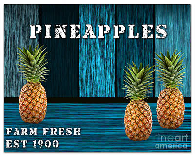 Pineapple Mixed Media - Pineapple Farm by Marvin Blaine
