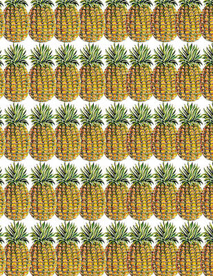 Pineapple Parade Print by John Keaton