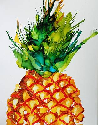 Painting - Pineapple Paradise by Donna Pierce-Clark