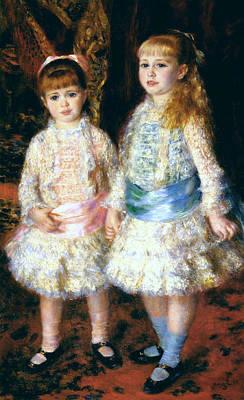 Pierre-auguste Renoir Painting - Pink And Blue. The Cahen D'anvers Girls by Pierre-Auguste Renoir