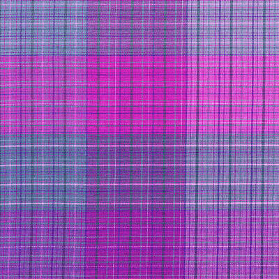 Pink And Purple Plaid Textile Background Print by Keith Webber Jr