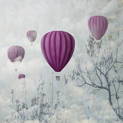 Nature Scene Mixed Media - Pink Balloons by Jelena Jovanovic
