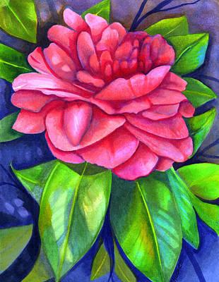 Pink Camellia Original by Elaine Hodges
