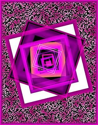 Abstract Digital Digital Art - Rose In Surreal Geometric Art by Mario Perez