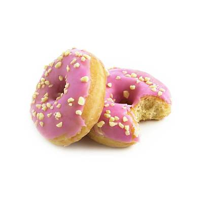 Pink Doughnuts Print by Science Photo Library