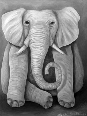 Fushia Painting - Pink Elephant Edit 4 by Leah Saulnier The Painting Maniac