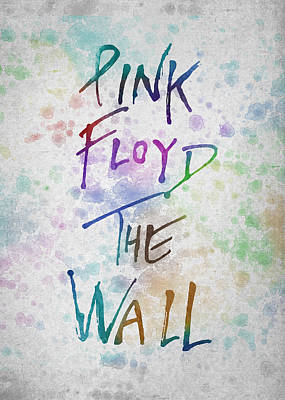 Psychedelic Rock Drawing - Pink Floyed The Wall by Aged Pixel