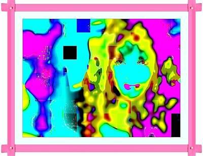 Etc. Digital Art - Pink Frame by HollyWood Creation By linda zanini