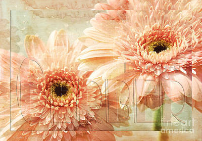 Gerber Daisy Mixed Media - Pink Gerber Daisies 3 by Andee Design