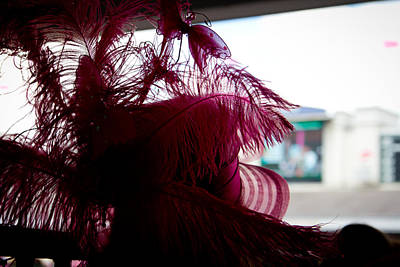 Pink Hat From Behind At The Paddock Print by John McGraw