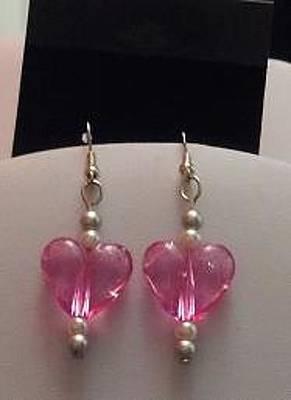 Earrings Jewelry - Pink Heart Earrings by Kimberly Johnson