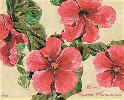 Flower Blooms Painting - Pink Hibiscus by Debbie DeWitt