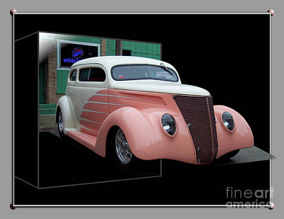 Pink Hot Rod 01 Print by Thomas Woolworth