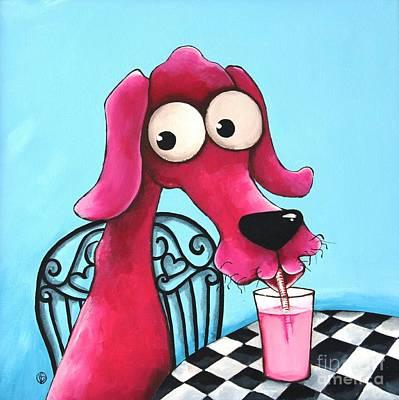 Pink Milk Print by Lucia Stewart