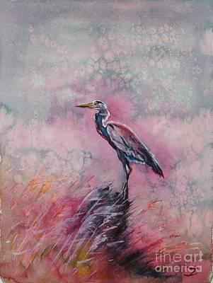 Pink Morning Print by Zaira Dzhaubaeva